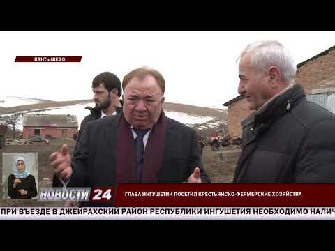 Глава Ингушетии посетил крестьянско - фермерские хозяйства.