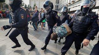 Москва: протесты и аресты