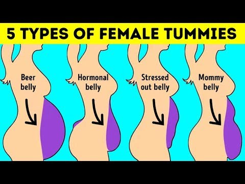 5 Types Of Tummy That Aren't Caused By Excess Weight - YouTube