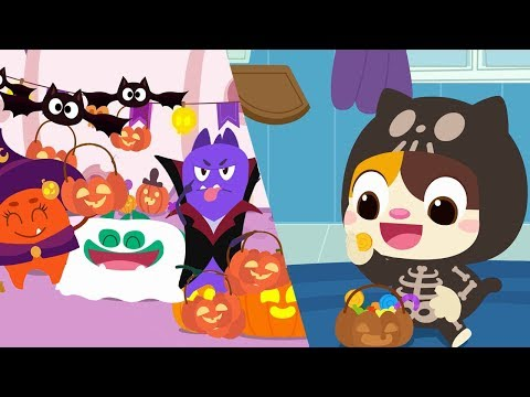 Baby Kitten Loves Halloween Candy | Cavity Germs' Halloween | Halloween Songs | Halloween | BabyBus