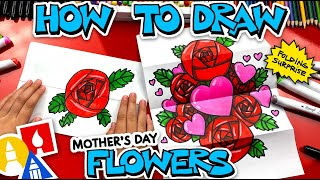 How To Draw Mother's Dąy Flowers Folding Surprise
