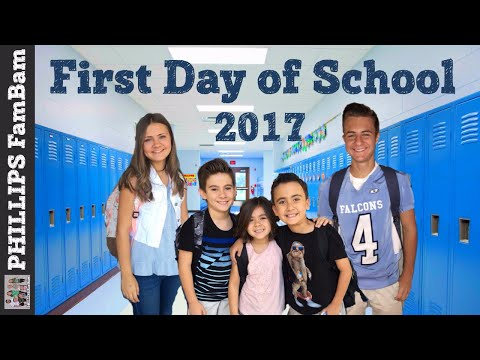 FIRST DAY OF SCHOOL 2017 | BACK TO SCHOOL VLOG | PHILLIPS FamBam Vlogs