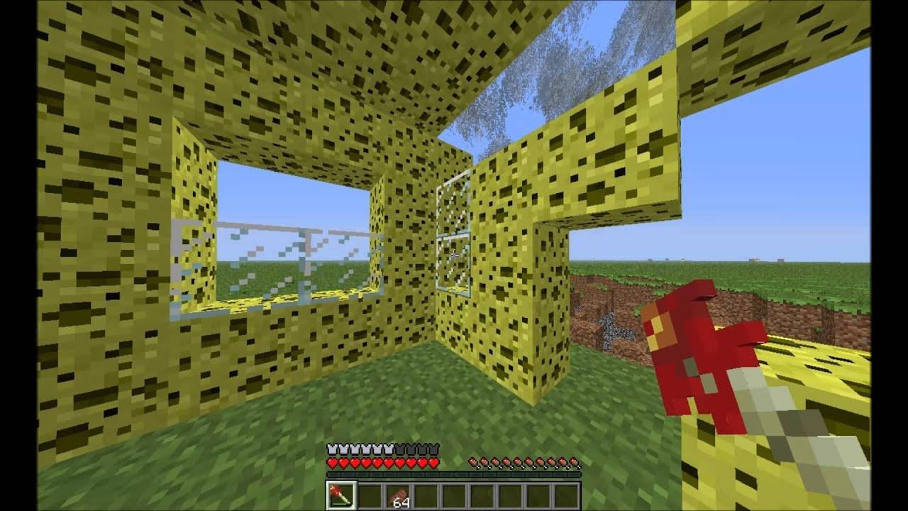 Minecraft Tornado Vs Sponge House