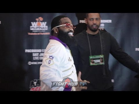 ADRIEN BRONER'S GRAND ARRIVAL IN LAS VEGAS AHEAD OF MANNY PACQUIAO FIGHT