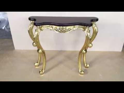 Консольный стол для прихожей Версаль маленький, столешница итальянский орех (МК 8202 - or)