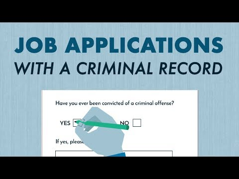 Applying for a Job with a Criminal Record