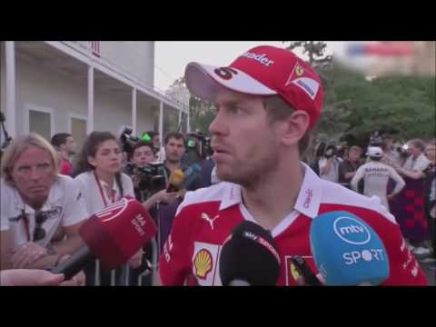 F1 2016 Baku (European) GP. Sebastian Vettel Post-Race Interview