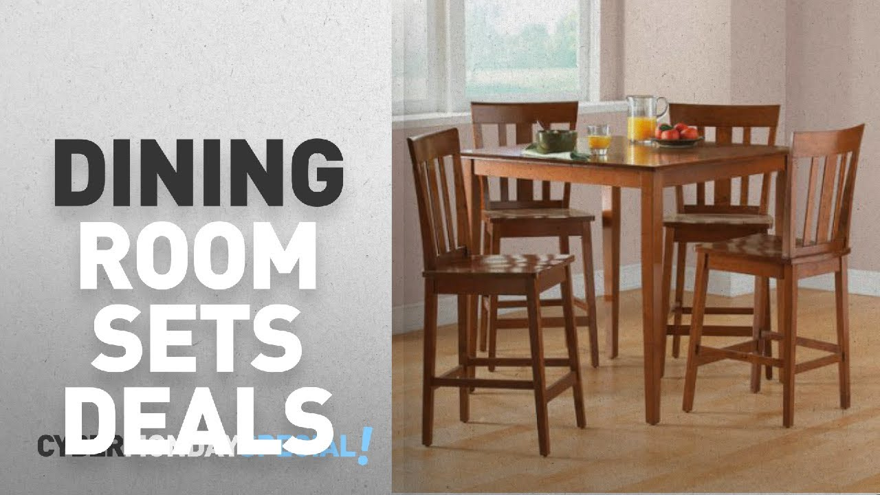 Walmart Top Cyber Monday Kitchen Dining Room Sets Deals Mainstays 5 Piece Counter Height