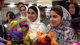 Afghan Girls Robotics Team Arrives in US