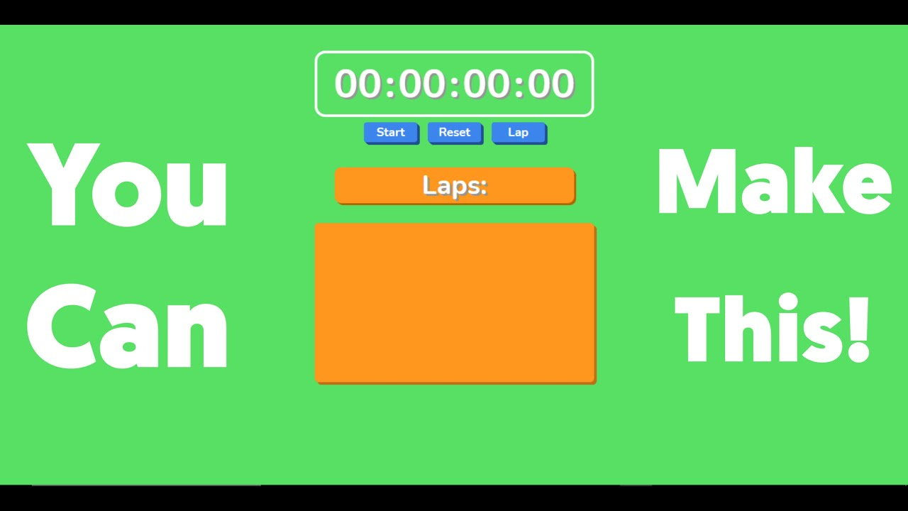 How to Make A Stopwatch in Basic JavaScript with Laps!