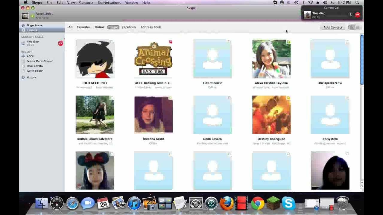 Real celebrity skype name - YouTube