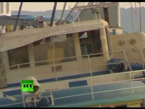 More video of sunken Bulgaria as ship raised, towed to shore