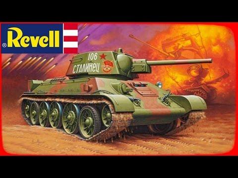 FULL VIDEO BUILD REVELL 1/35 T-34/76 (Model 1943)