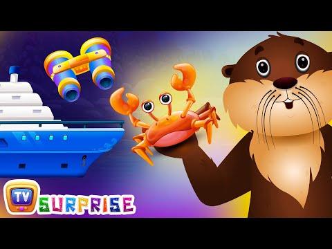 Surprise Eggs Nursery Rhymes Toys | Sea Otter Rhyme | Learn Colours, & Sea Animals | ChuChuTV