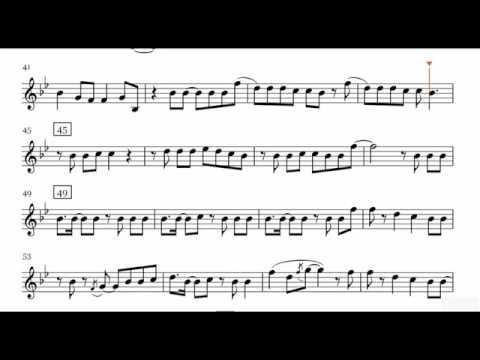Shut Up and Dance   Walk The Moon Saxophone Sheet Music + Play Along