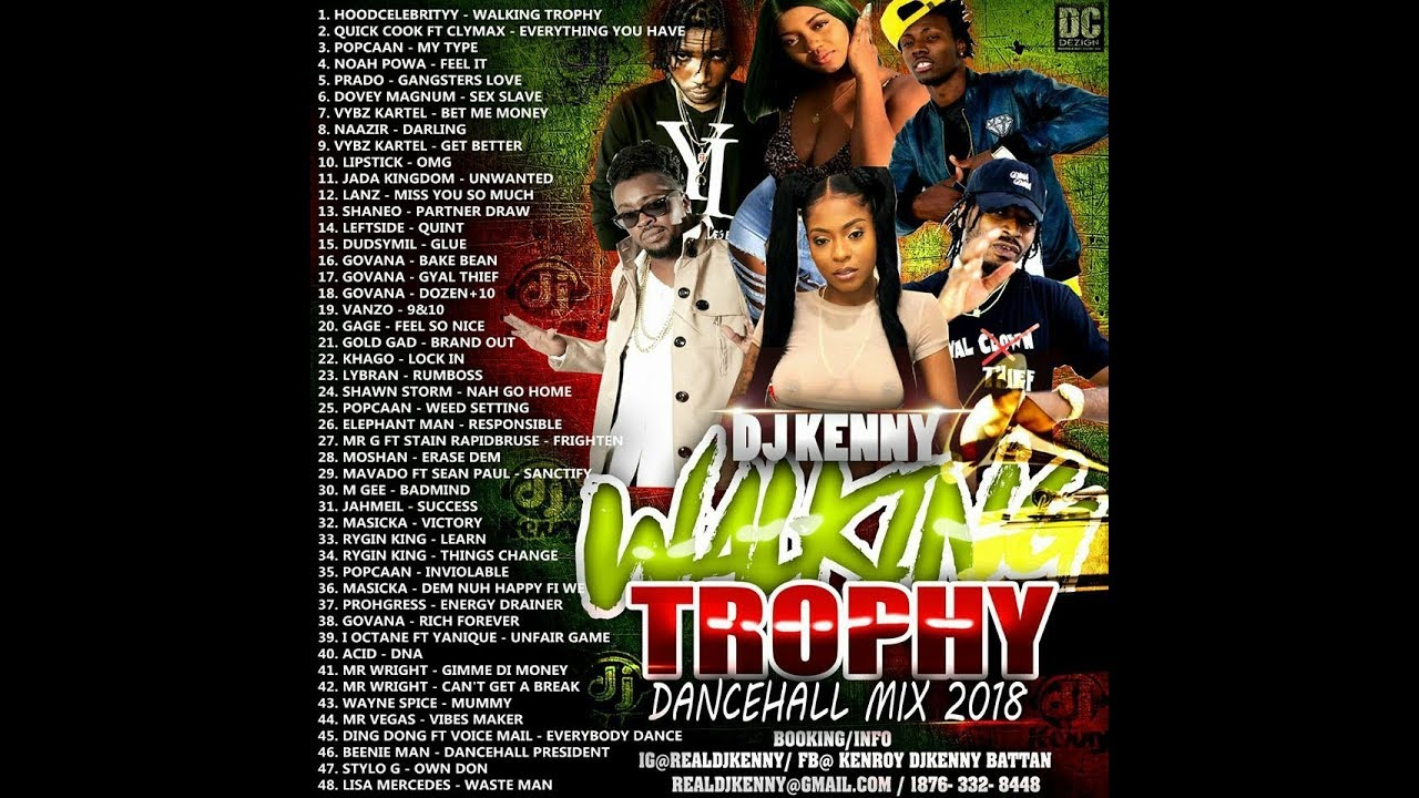 DJ KENNY WALKING TROPHY DANCEHALL MIX APR 2018