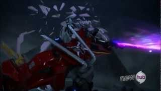 Transformers Prime Optimus Vs Megatron Starsaber Battle
