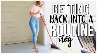 GETTING BACK INTO A ROUTINE | Meal Prepping, Workouts, & Mental | Renee Amberg