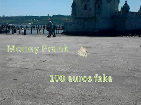 100 euros fake note Money Prank Belém / Partida nota de 100