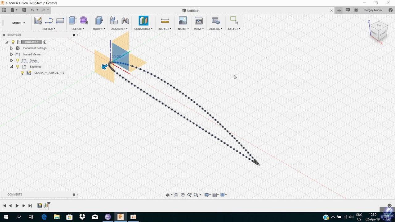 Airfoil DAT to Spline | Fusion 360 | Autodesk App Store