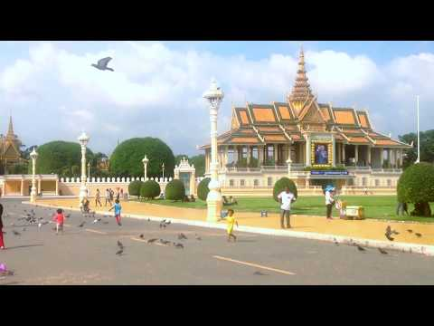 Visiting Around The Royal Palace and Mekong Riverside, Phnom Penh, The Capital of Cambodia