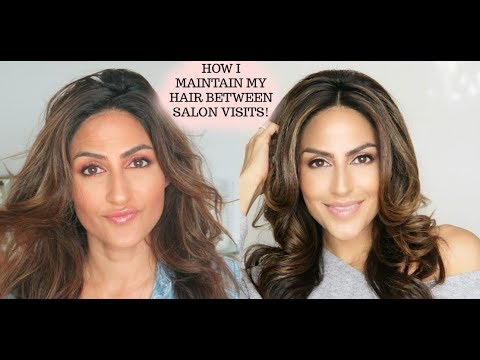 HOW I TREAT & STYLE MY HAIR IN BETWEEN SALON VISITS!