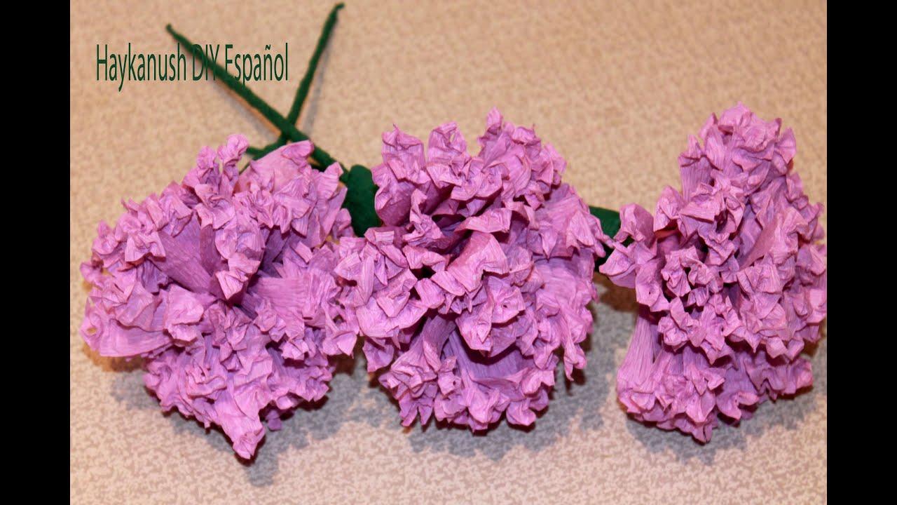 Como hacer flores de papel crepe paso a paso haykanush diy - Videos de como hacer crepes ...
