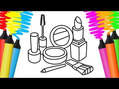 Desenhar E Colorir Kit De Maquiagem Cachorro E Chaves Pintar E