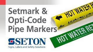 Setmark and Opti-Code Pipe Marker Comparison | Seton Video