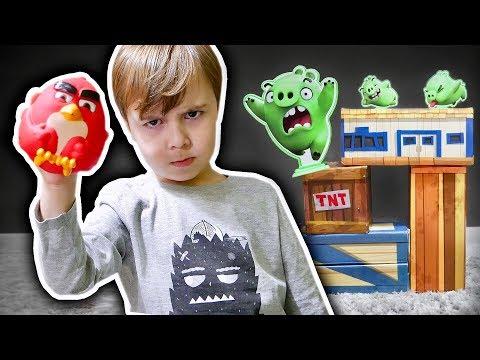 ANGRY BIRDS NA VIDA REAL!! Jogo Divertido com Maikito e Laurinha
