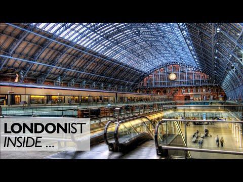 Inside St Pancras Station