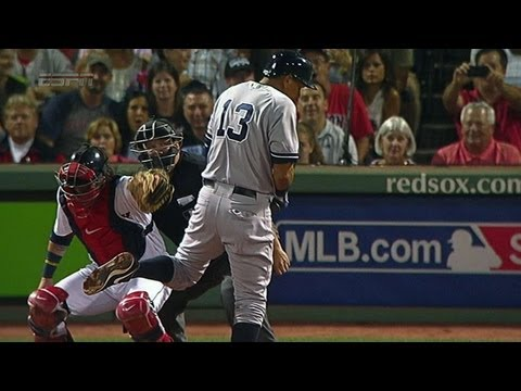 Dempster hits A-Rod, Girardi ejected