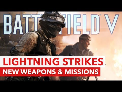 "Battlefield V: New Weapons, Missions & Rewards with Chapter 2 ""Lightning Strikes"" thumbnail"