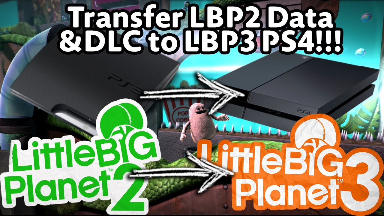 How to transfer LBP2 Data and DLC to LBP3 PS4!