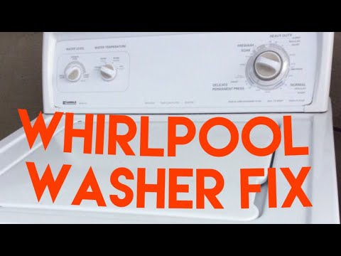 Whirlpool Kenmore Washer Won T Agitate Or Spin Fixed