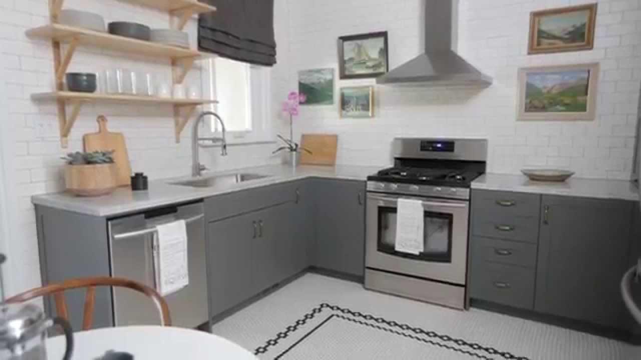 urban design house kitchen Interior Design — Small & Fun Urban Farmhouse Kitchen
