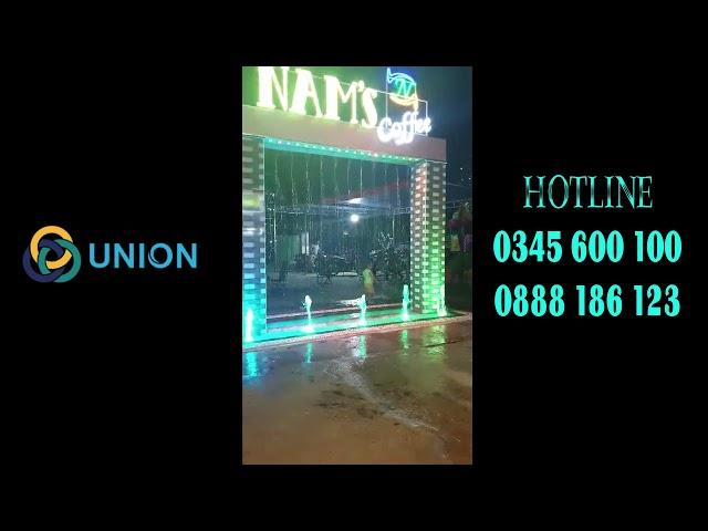 Màn nước thẳng quán Coffe Nam's Hóc Môn | UNION JSCO