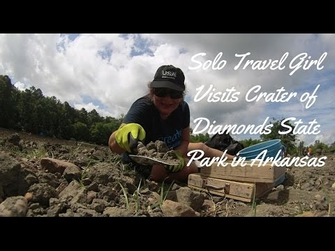 Solo Travel Girl Visits Crater of Diamonds State Park in Arkansas