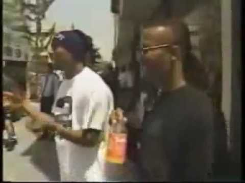 2Pac Confronts A Mean Muggin' Kid Protecting His Corner Rap City 1993