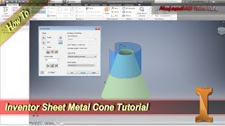 Inventor Sheet Metal Cone Tutorial With Contour Roll