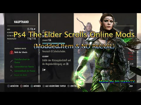 Ps4 The Elder Scrolls Online Mods Modded Item No Recoil Youtube
