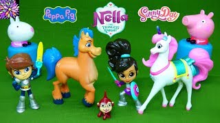 Nella the Princess Knight Trinket Clod Toys Peppa Pig Surprise Mashems Sunny Day Rox Doll Toys Video