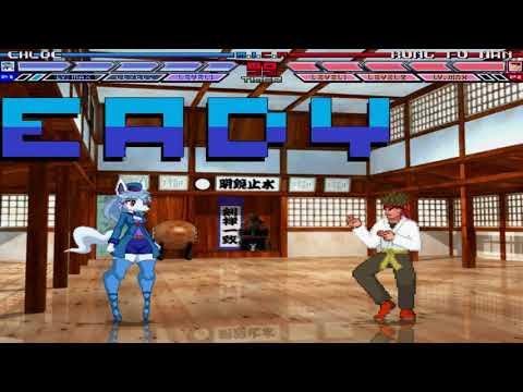 Mugen battle Chloe vs Kung Fu Man