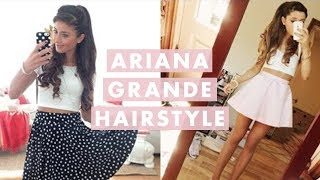 Ariana Grande's hair always looks gorgeous! In this video I show you how I recreate Ariana Grande's hairstyle with my Luxy Hair Extensions: http://www.luxyhair.com   For this tutorial I used:   - Hairspray - Clipless curler - Sectioning brush - hair elastic - hair pins - bobby pins  Once you did this hair style, snap a quick pic and post it on your instagram with #luxyhair , I'd love to see it and I will feature my favourites on our Luxy Hair Instagram http://instagram.com/luxyhair  Thank you for watching! :)  Please remember to LIKE, SHARE and SUBSCRIBE for more hair tutorials :)   xx Mimi   ♥ Instagram - http://instagram.com/luxyhair ♥ instagram Mimi - http://instagram.com/mimiikonn ♥ Facebook - Luxy Hair - http://www.facebook.com/luxyhair  COMMENT RULES: Everyone is welcome to our channel which is like our home. Here we treat you to an entertaining video that we put a lot of work and love into and we expect our guests to be polite and respectful. Wouldn't you expect the same? We do not tolerate any rude or irrelevant comments. If these rules are not followed, the comment will be deleted and the user may be blocked. Spread LOVE and thank you for watching!