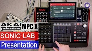 Sonic LAB Presentation - Akai MPC X CV control and workflow