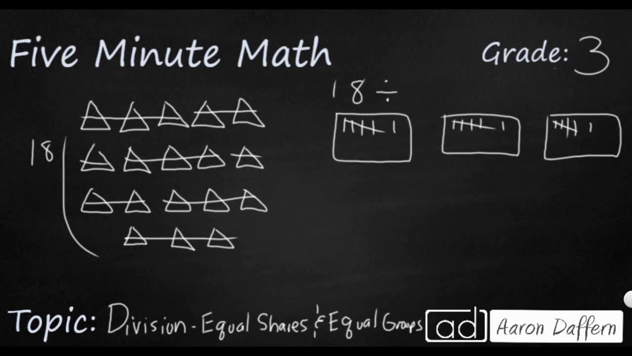 3rd Grade Math - Division (Equal Shares)