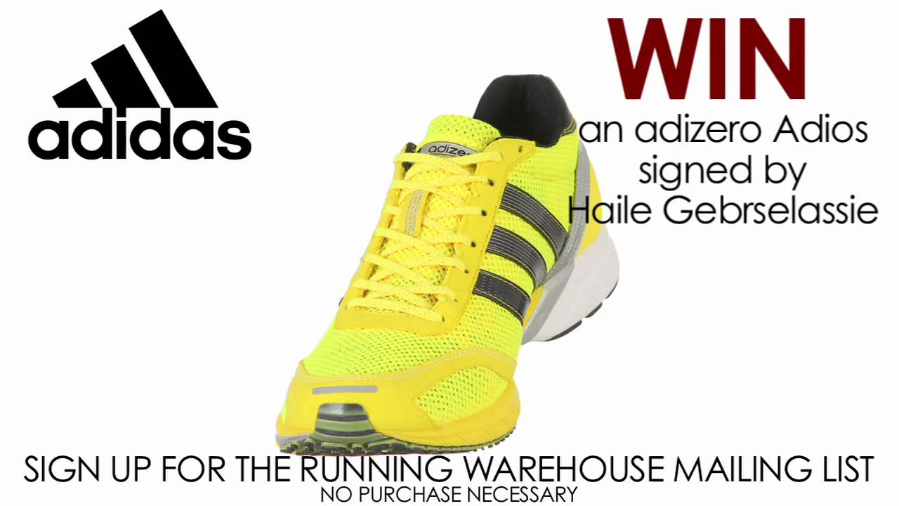 super popular 0e095 4b266 Win an Adidas adizero Adios. Running Warehouse