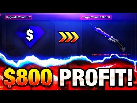 CSGO FASTEST GAMBLING PROFIT EVER $800 GAMBLING PROFIT IN 10 MINUTES CS:GO FREE KNIFE CSGOMAGIC CODE