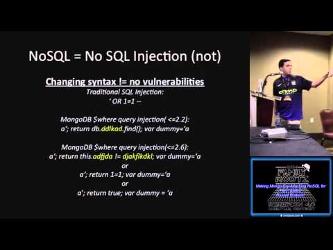 t408 Making Mongo Cry Attacking NoSQL for Pen Testers Russell Butturini