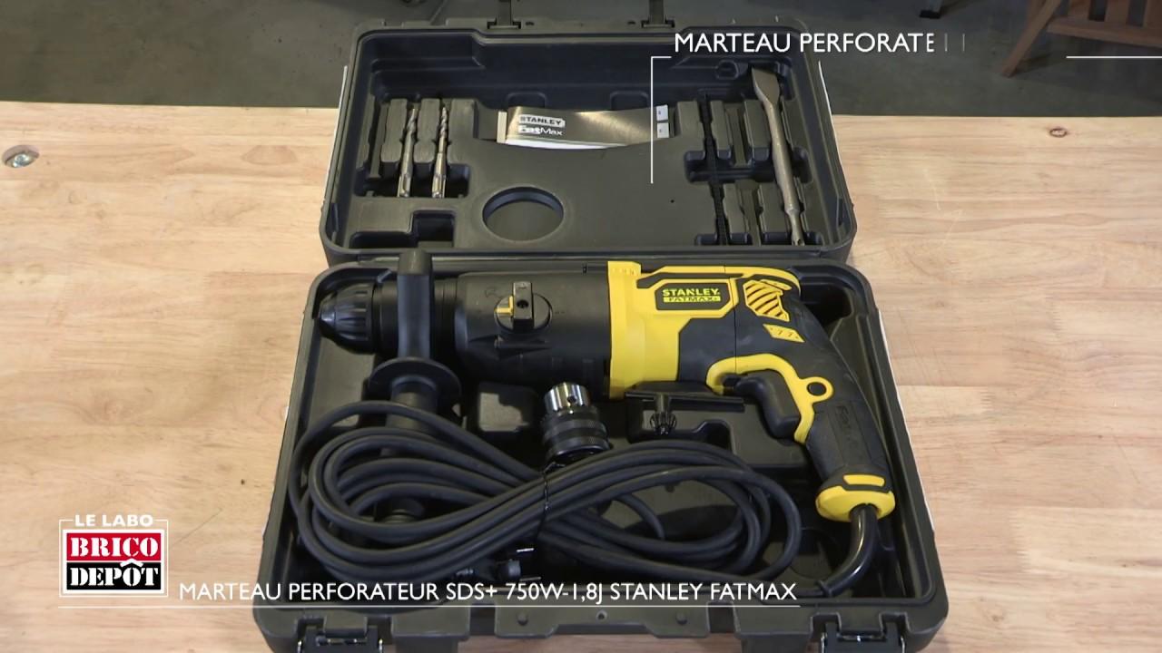 Labo Brico Test Marteau Perforateur Sds 750 W 1 8 J Stanley Fatmax Youtube
